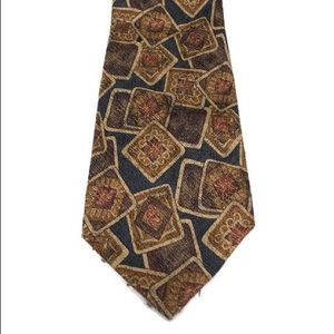 "Burberry Tie. L 58""  W 4"" rustic colors"